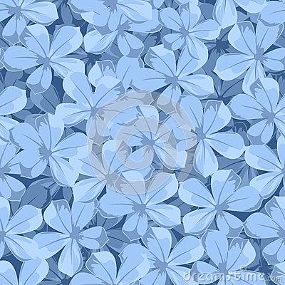 Free Seamless Background With Blue Flowers. Vector Illustration. Royalty Free Stock Photography - 91571617
