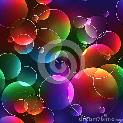 Free Seamless Background With Bubbles In Bright Neon Colors Stock Photos - 47060713
