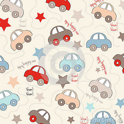 Free Seamless Background With Cars Royalty Free Stock Photos - 39139058