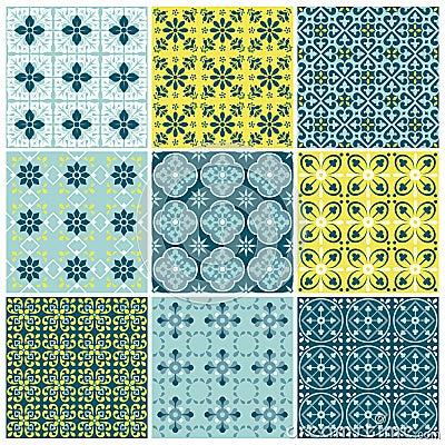 Seamless backgrounds Set - Vintage Tile