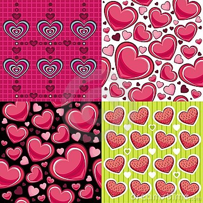 Seamless Backgrounds Valentine