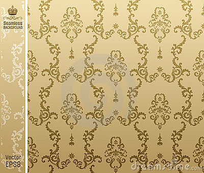 Seamless backgroung flower beige