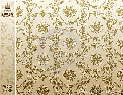 Seamless backgroung Pattern beige