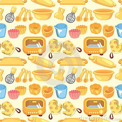 Seamless bake tool pattern