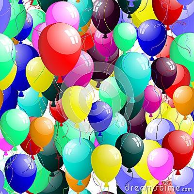 Free Seamless Balloons Stock Photography - 13250202