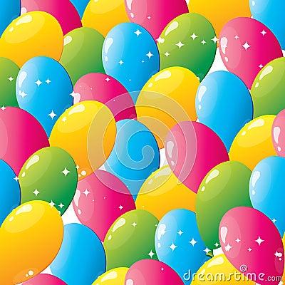Free Seamless Balloons Pattern Stock Photography - 14257772