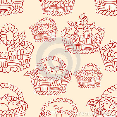 Free Seamless Basket Apples Royalty Free Stock Images - 39424719