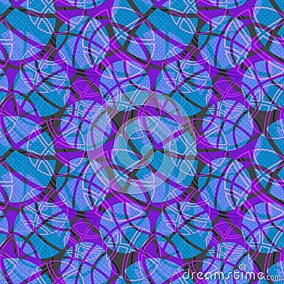 Seamless basketball ball texture blue pattern