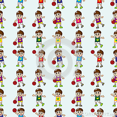 Seamless basketball pattern