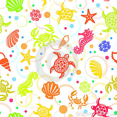 Seamless Beach Vector Pattern Stock Photography - Image: 10212002