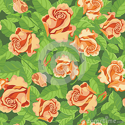Seamless beatifull roses