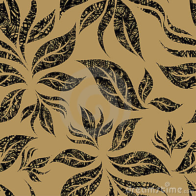 Seamless beige floral pattern