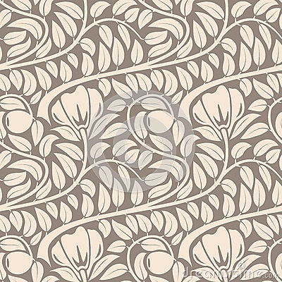 Free Seamless Beige Floral Pattern. Stock Photography - 31943802