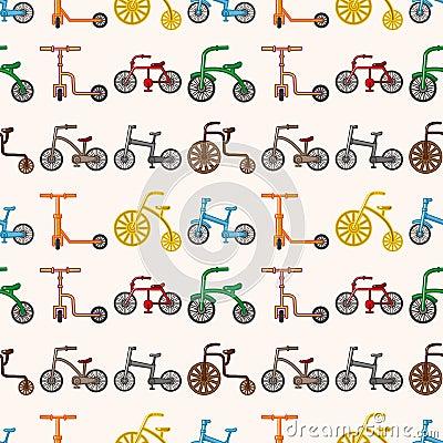 Seamless bicycle pattern