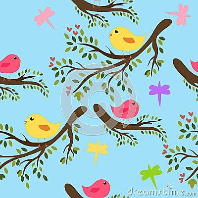 Free Seamless Birds Background Stock Photo - 13278710