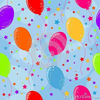 Free Seamless Birthday Background Stock Photography - 9938702
