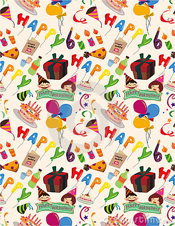 Seamless birthday pattern