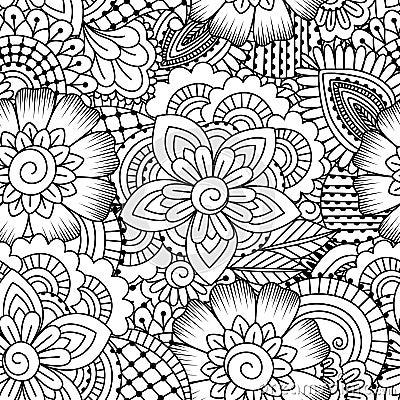 Free Seamless Black And White Pattern. Royalty Free Stock Photo - 60408465