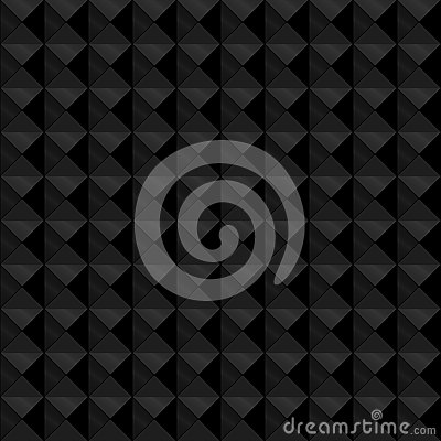 Seamless black geometric embossed pattern