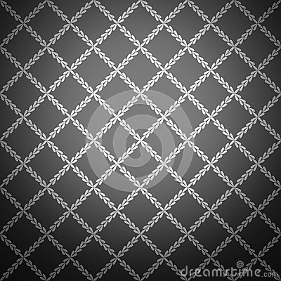 Seamless black stylish background. Vector