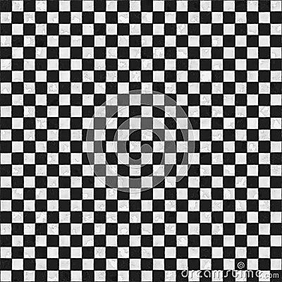 Seamless black and white checkered texture