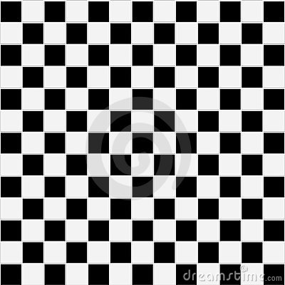 Seamless black and white checkered texture