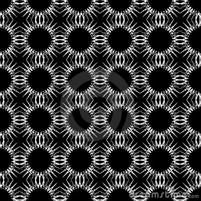Seamless black-and-white decorative pattern.