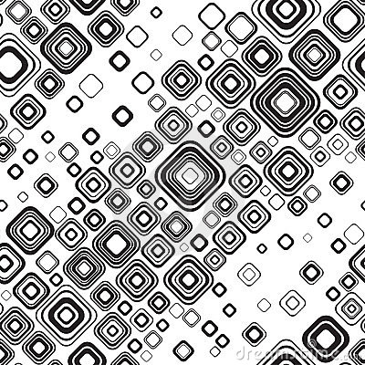 Seamless black-and-white pattern