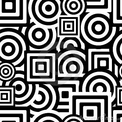Seamless Black And White Pattern Stock Images - Image: 4686074