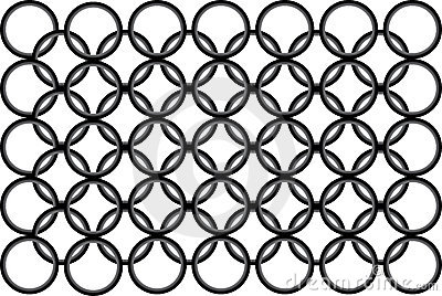 Seamless black-and-white pattern with round