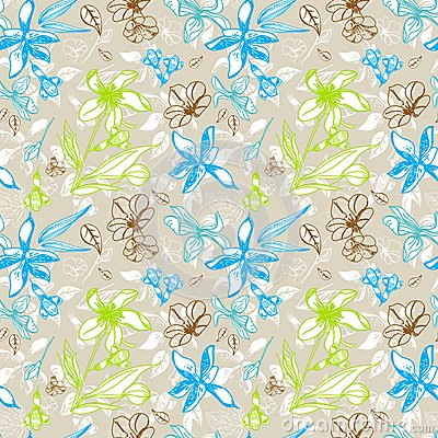 Seamless blom- mönstrar