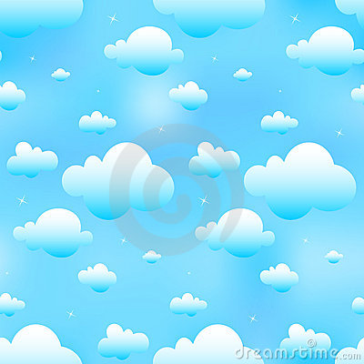 Free Seamless Blue Clouds Royalty Free Stock Image - 6038196