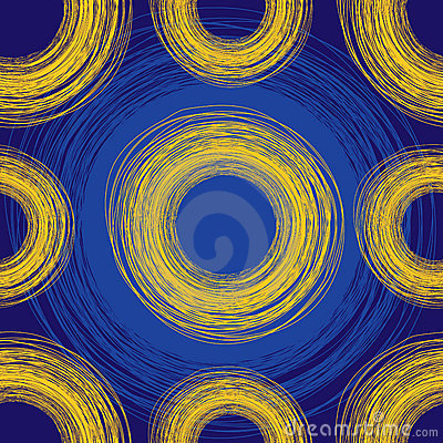 Seamless blue freehand background