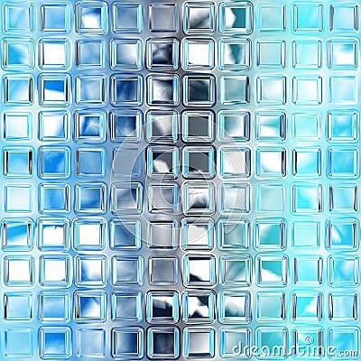 Seamless Blue Glass Tiles Texture Royalty Free Stock