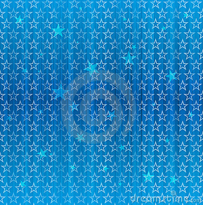Seamless Blue Star Pattern