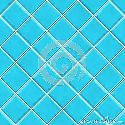 Blue Bathroom Tile Texture Plain White Handbasin Stock