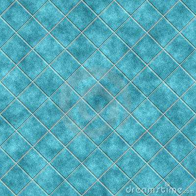 Seamless blue tiles texture background