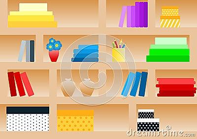 Seamless Book Shelf Pattern