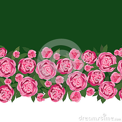 Free Seamless Border With Gentle Pink Flowers Stock Image - 26238151