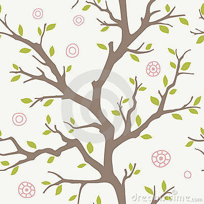 Seamless branches pattern