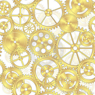 Free Seamless Brass Gear Background Royalty Free Stock Photography - 18973947