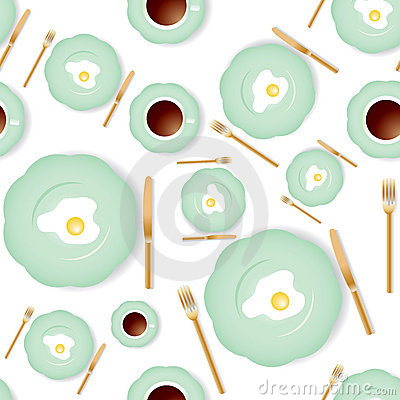 Free Seamless Breakfast Pattern Royalty Free Stock Image - 5603816