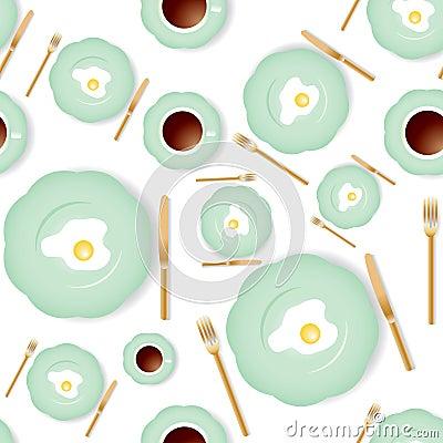 Seamless breakfast pattern