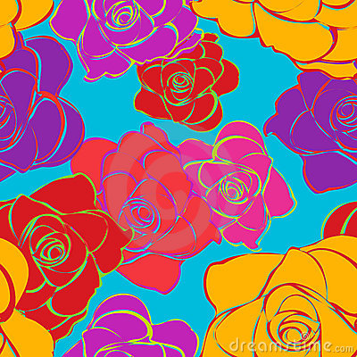 Seamless Bright Roses Pattern