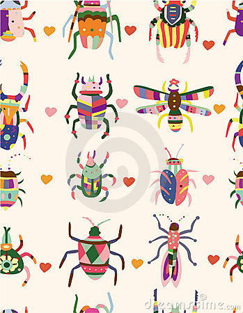 Free Seamless Bug Pattern Stock Photography - 17635052