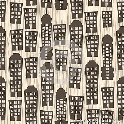 Free Seamless Buildings Megapolis Pattern Stock Photo - 26417170