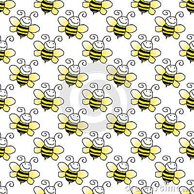 Seamless Bumblebee Background