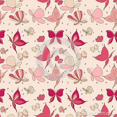 Seamless butterfly pattern