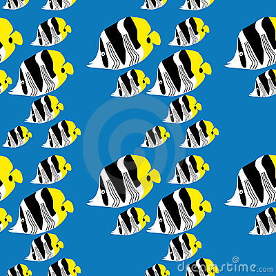 Seamless butterflyfish pattern