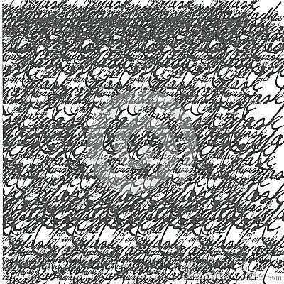 Seamless calligraphic wallpaper
